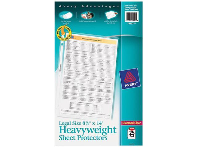 Avery 73897 Top-Load Polypropylene Sheet Protector, Clear, 25/Pack