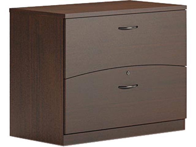 Mayline BTFLF36LDC Brighton Series Laminate 2-Drawer Lateral File, 36w x 20d x 29h, Mocha
