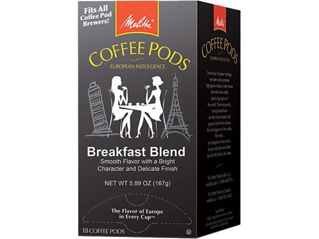 Melitta 75421 One:One Coffee Pods, Breakfast Blend, 18 Pods/Box