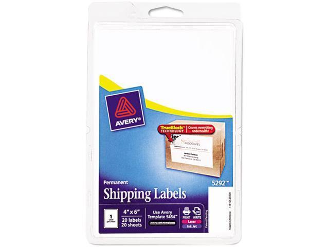 Shipping Labels, Laser/Inkjet, 4