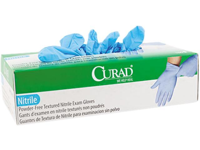 Curad CUR8316 Nitrile Powder-Free Exam Glove, Large, 100/Box
