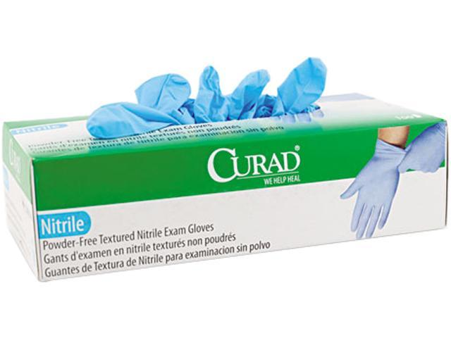 Curad CUR8315 Nitrile Powder-Free Exam Glove, Medium, 100/Box