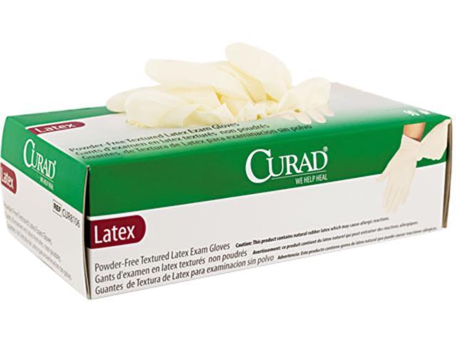 Curad CUR8107 Powder-Free Latex Exam Gloves, X-Large, 90/Box