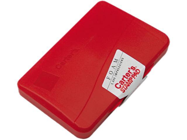 """Foam Rubber Stamp Pad, Size 1, 2-3/4""""x4-1/4"""", Red AVE21371"""