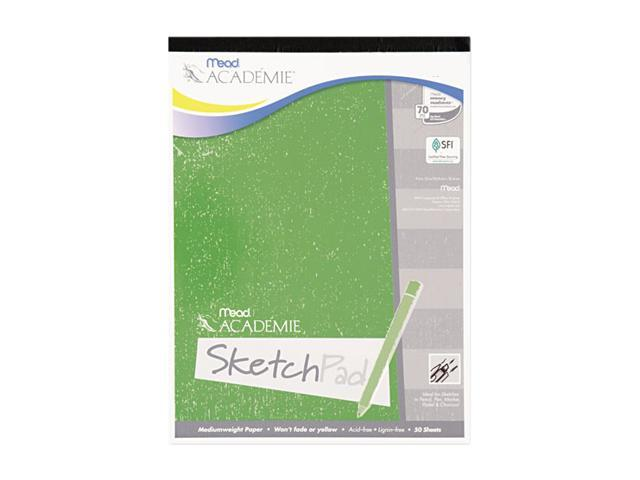 Mead 54012 Academie Sketch Pad, 9 x 12, White, 50 Sheets