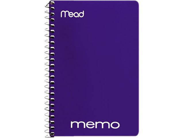 """Mead 45644 Memo Book, College Ruled, 6"""" x 4"""", Wirebound, 40 Sheets, Assorted"""