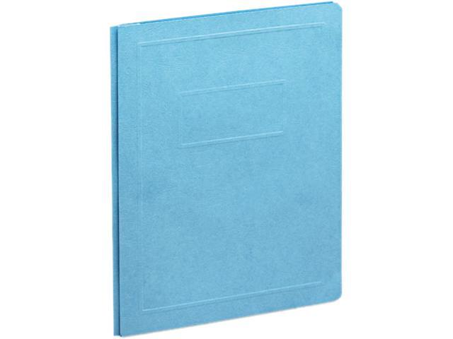 "Smead 87152 Leatherette Brief Cover, Tang Fasteners, Letter, 1/2"" Capacity, Blue, 25/Box"