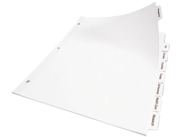 Avery 11556 Index Maker Clear Label Punched Divider 5 Tab Letter