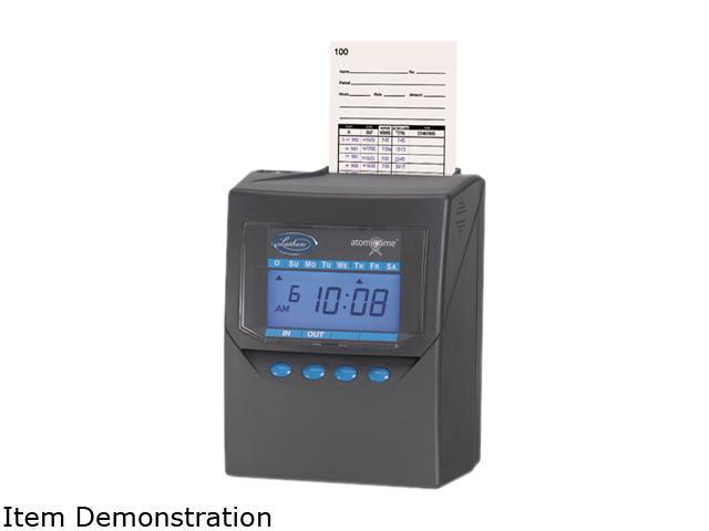 Lathem Time 7500E Totalizing Time Recorder, Gray, Electronic, Automatic