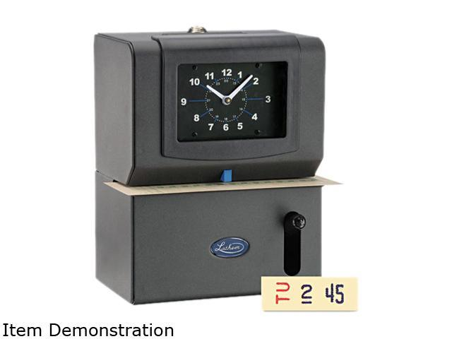 Lathem Time 2121 Heavy Duty Time Clock, Mechanical, Charcoal