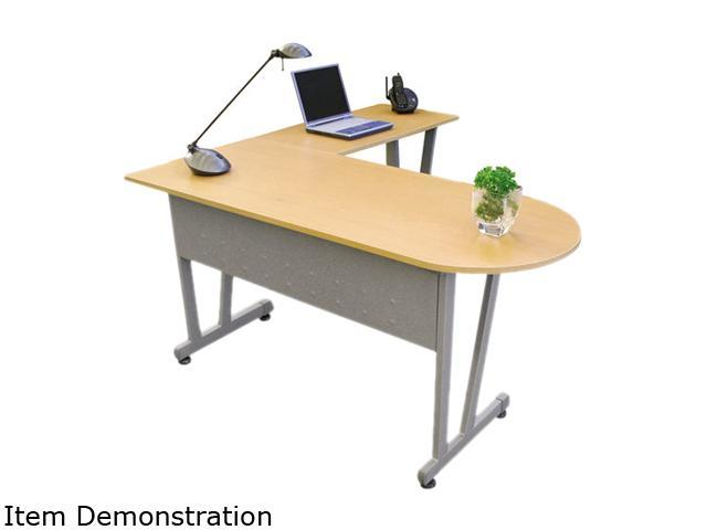 Massima Line L-Shaped Desk, 59-1/8w x 59-1/8d x 29-1/2h, Honey