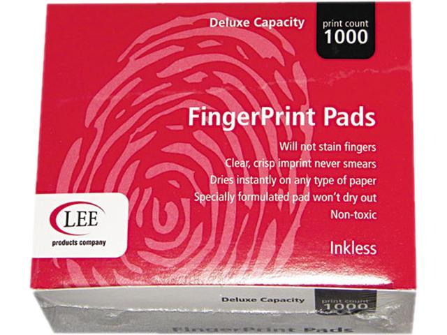 LEE 03127 Inkless Fingerprint Pad, 2-1/4 x 1-3/4, Black, 1 EA