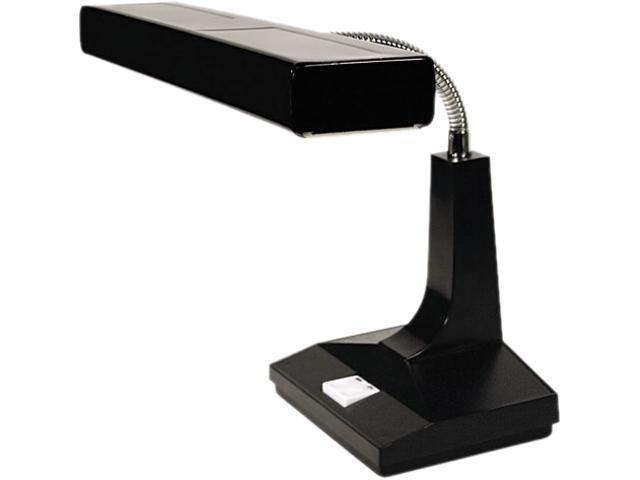 Ledu L9027 Adjustable Fluorescent Gooseneck Desk Lamp, Black, 15 Inches High