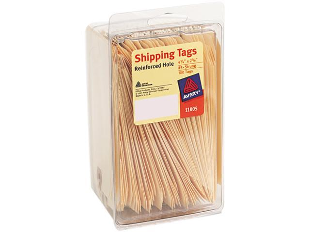 Avery 11005 Shipping Tags, 2-3/8 x 4-1/4, Manila, 100/Pack