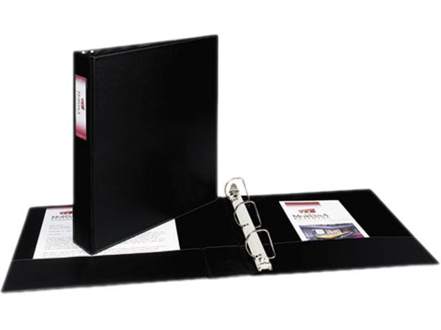 "Avery 08402 Durable Slant Ring Reference Binder With Label Holder, 1-1/2"" Capacity, Black"