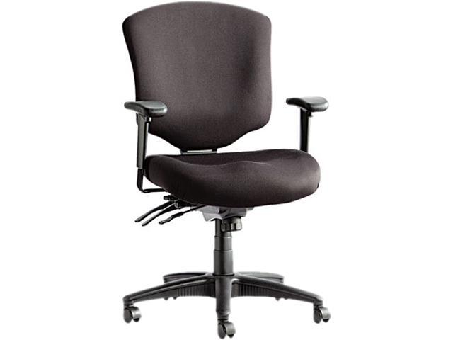 Alera ALEWP42SFB10B - Wrigley Pro Series Mid-Back Multifunction Chair w/Seat Glide, Black