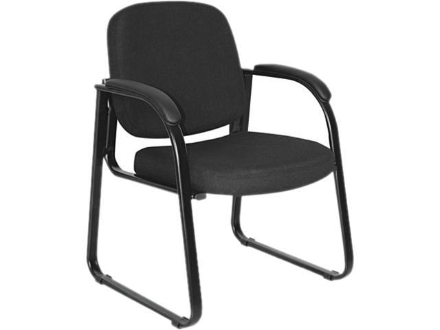 Alera ALERL43C11 - Reception Lounge Series Sled Base Guest Chair, Black Fabric