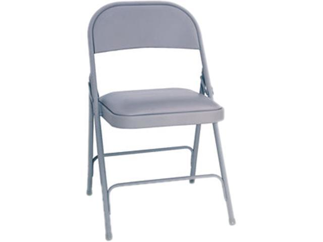 Alera Steel Folding Chair w/Padded Seat FC94VY40LG (ALEFC94VY40LG) Light Gray, 4/Carton