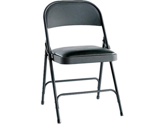 Alera Steel Folding Chair w/Padded Seat FC94VY10B (ALEFC94VY10B) Graphite, 4/Carton