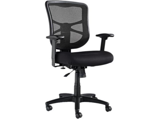 Alera EL42BME10B Elusion Series Mesh Mid-Back Swivel/Tilt Chair, Black