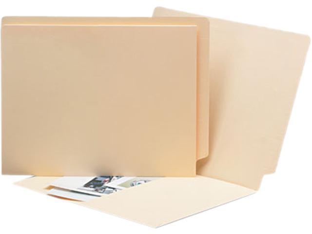 Smead 24116 Antimicrobial Pocket Folders, Straight Tab, Letter, Manila, 50/Box