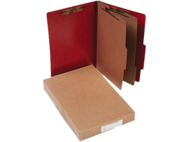 Acco 16006 Presstex 20-Point Classification Folders, Legal, Six-Section, Red, 10/Box