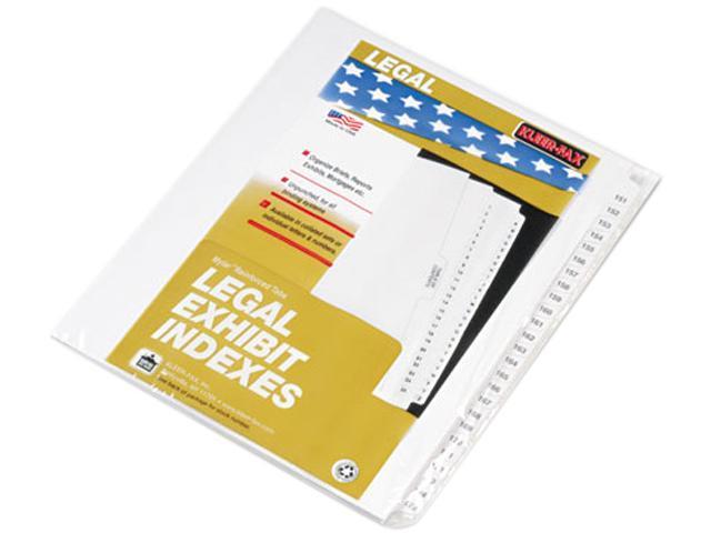 Kleer-Fax 83151 80000 Series Legal Index Divider Set, Side Tabs, Printed