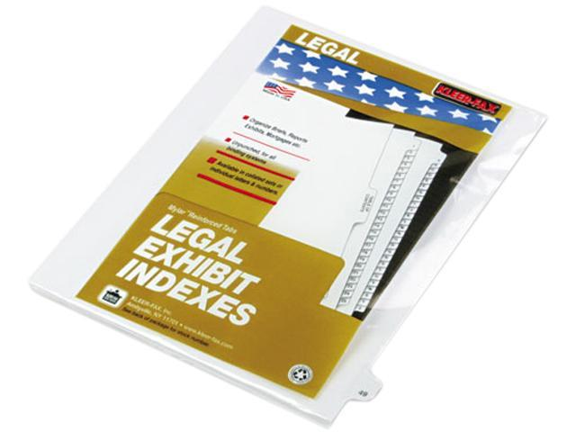 Kleer-Fax 82249 80000 Series Legal Index Dividers, Side Tab, Printed