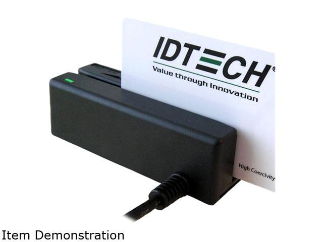 ID TECH IDMB-335112B MiniMag II Card Reader (Black) – USB HID, Track 1, 2