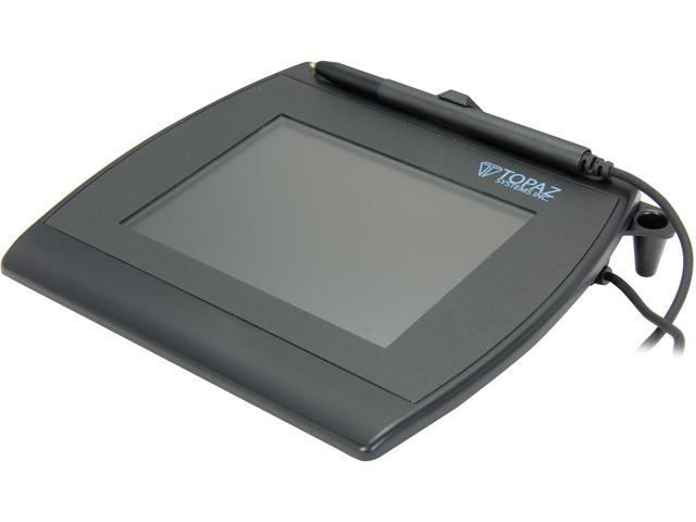 Topaz SignatureGem LCD 4x5 T-LBK766 Series Dual Serial/USB BackLit T-LBK766-BHSB-R Signature Capture Pad