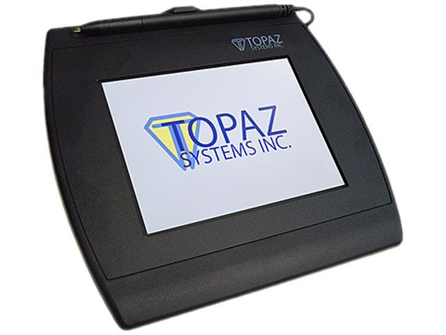 Topaz SigGem Color 5.7 T-LBK57GC Series Dual Serial/Virtual Serial via USB Backlit T-LBK57GC-BBSB-R Signature Capture Pad