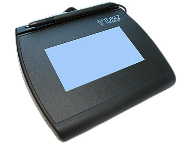 Topaz SignatureGem LCD 4x3 T-LBK755 Series Dual Serial/Virtual Serial via USB (High Speed) BackLit T-LBK755SE-BBSB-R Signature ...