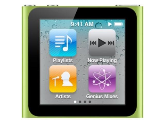 "Apple iPod nano (6th Generation) 1.54"" Green 8GB MP3 Player MC690LL/A"