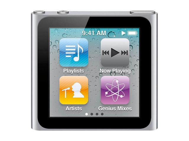 "Apple iPod nano (6th Generation) 1.54"" Silver 8GB MP3 Player MC525LL/A-R"
