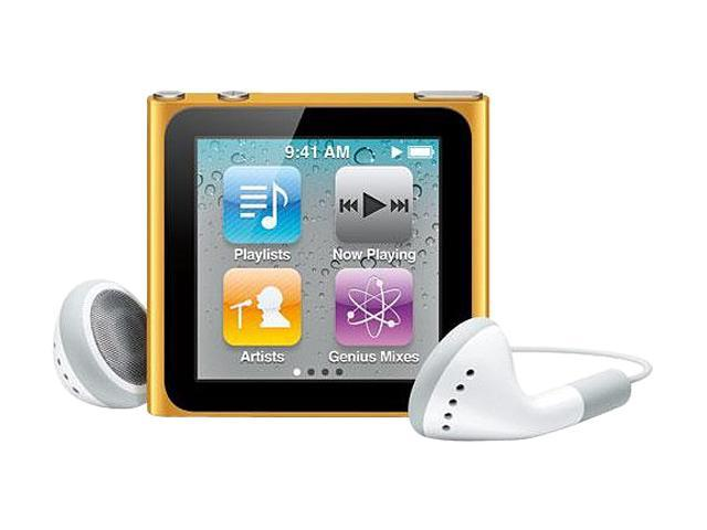 "Apple iPod nano (6th Generation) 1.54"" Orange 16GB MP3 Player MC697LL/A"