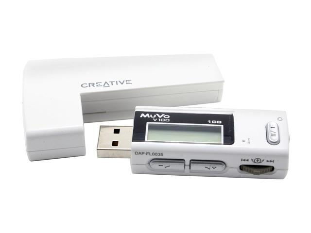 Creative MuVo White 1GB MP3 Player V100