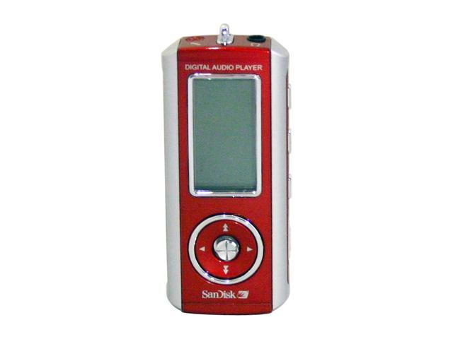 SanDisk Red 256MB MP3 Player SDMX-1-256-A18-RFB