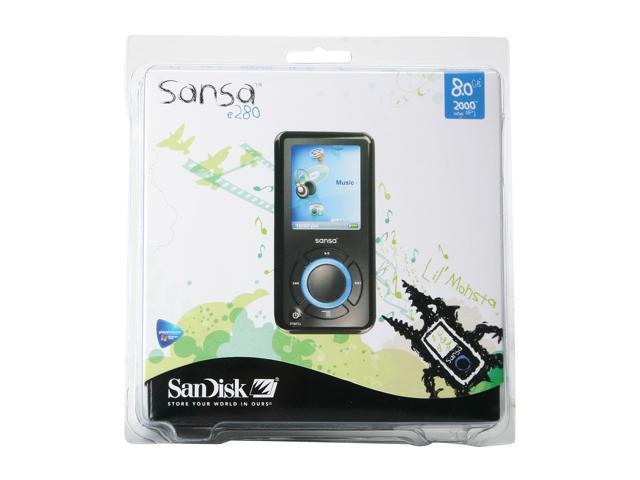 """SanDisk Sansa e200 1.8"""" Black 8GB MP3 Player Sansa e280"""