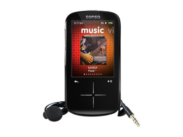 "SanDisk Sansa Fuze+ 2.4"" Black 8GB MP3 Player SDMX20R-008GK-A57R"