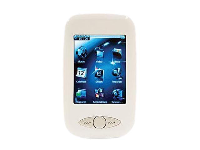 "Mach Speed Trio T2810C 2.8"" White 4GB MP3 / MP4 Player ECLIPSE2810CWHT"