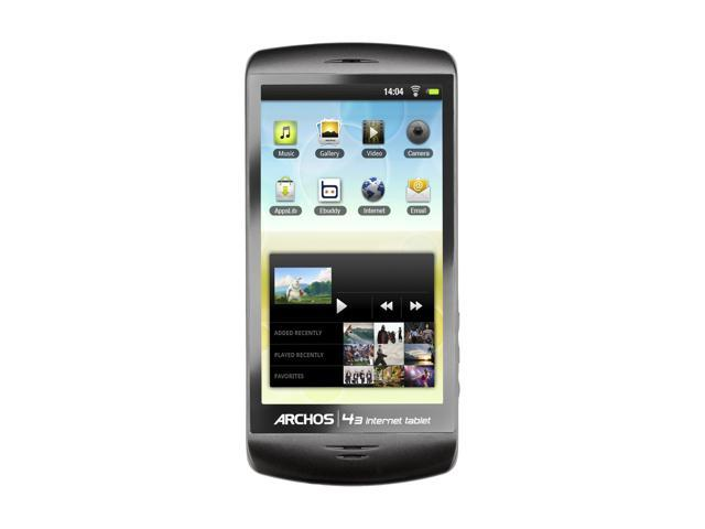 "ARCHOS 4.3"" Black 8GB MP3 / MP4 Player 43 Internet Tablet - 8GB"