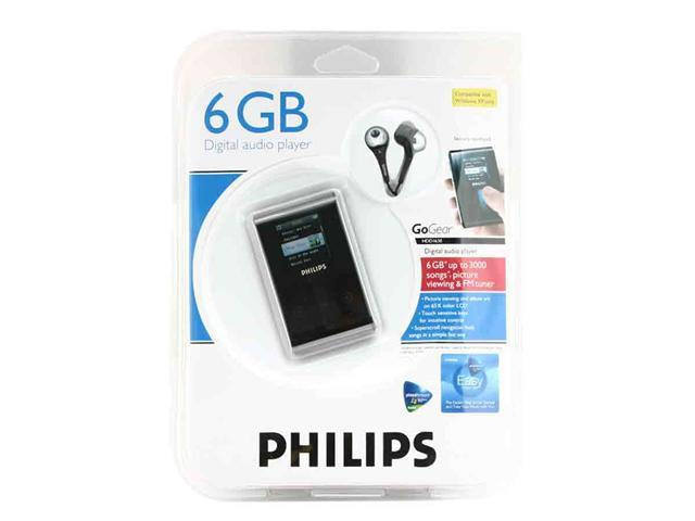 "PHILIPS 1.5"" Black 6GB MP3 Player HDD1630/17"