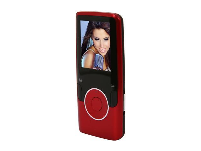 "Coby 1.8"" Red 4GB Video MP3 Player MP620"