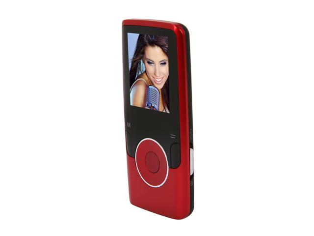 """Coby 1.8"""" Red 8GB Video MP3 Player MP620-8GRED"""