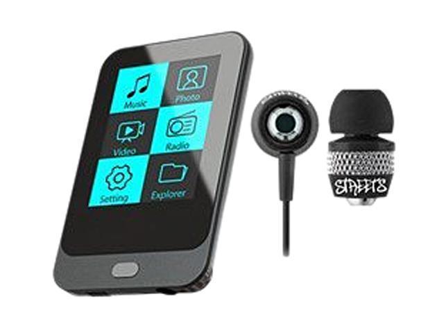 """Coby 2.0"""" Black 8GB MP3 Player KIT NZ2370 KV8267"""