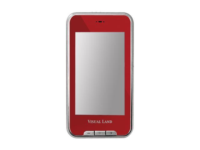 "Visual Land V-Touch Pro 3"" Red 4GB MP3 / MP4 Player ME-965L"
