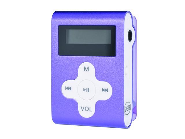 Mach Speed Eclipse CLD2PL 2 GB MP3 Player with Display & Shuffle Mode (Purple)