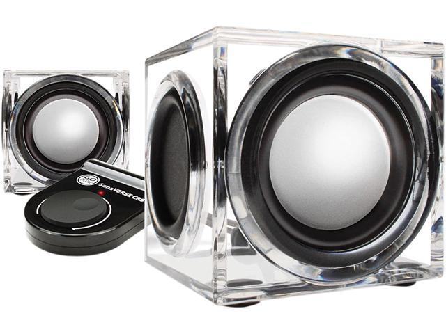 GOgroove CRS USB Powered Computer Speakers with Modern Acrylic Housing & Dual Drivers - Works with Acer , Apple , ASUS , HP , Toshiba & More Laptop Computers