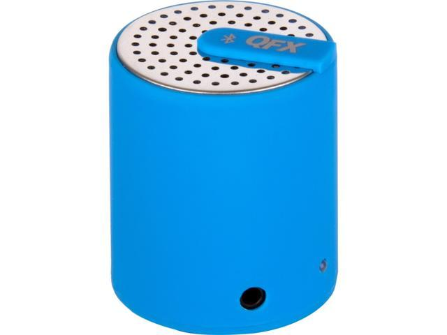 QFX CS27BTBLUE Portable bluetooth speaker with aux-in
