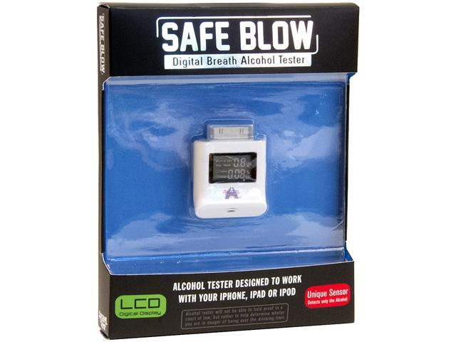Arsenal Gaming 4ARG75062 White Digital Breath Alcohol Tester for iPhone / iPad / iPod